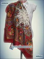 Шерстяные платки цветочный принт 80х80 см