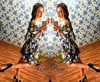 Очень красивое платье из шифона с цветочным принтом