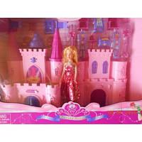 Замок с куколкой и мебелью