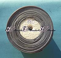 Лента атласная цвет №180 (серый) шириной 5 см