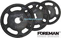Диск E-Z олимпийский обрезиненный FOREMAN 5 GRIP O52 10-25 кг