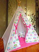 """Детский игровой домик, вигвам, палатка, шатер, шалаш """"Совушки"""""""