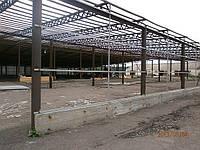Реконструкция навеса 78х55 в ангар Кировоградская обл.