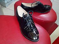 Женские кожаные туфли осень-весна