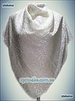 Велюровый платок молочный или белый