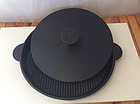 Сковорода гриль в диаметре 300мм с крышкой прессом