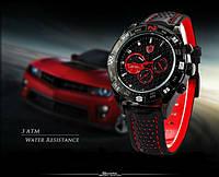 Мужские наручные часы Shark Sport Montre Inoxydable Bracelet En Cuir Noir Quartz Homme Militaire/SH080