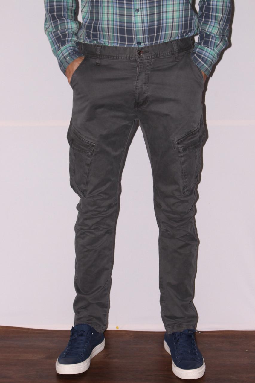 1c54ecccf1a Мужские молодежные джинсы на манжете с накладными карманами -  Интернет-магазин