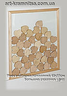 Рамка - копилка для сердечек  размером 45х55см