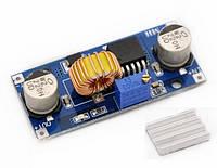 Импульсный DC-DC понижающий преобразователь на XL4015, вх. 4-38В, вых. 1,25-36В,5А, КПД 96%, 180кГц