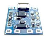Модуль плата заряда Li-ion аккумулятора 3,7В TP4056 microUSB 5В --> 3,7В 1А, с защитой аккумулятора, фото 2