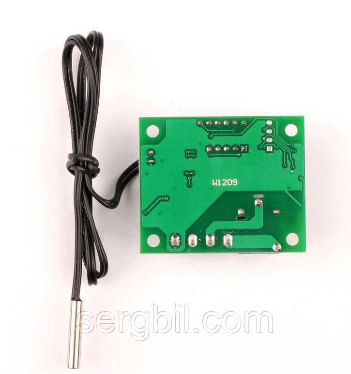 Цифровой программируемый терморегулятор (реле) -50..110град. питание12В, с выносным датчиком температуры (NTC резистор), без корпуса IP00