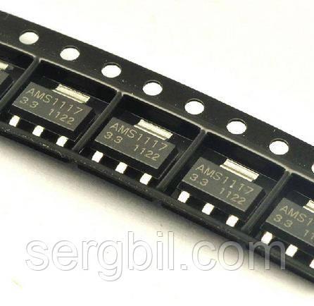 Микросхема AMS1117-3.3  SOT-223 линейный стабилизатор 3.3В 1A