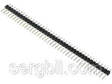 ZL201-40G планка штыревая на плату прямая шаг 2,54мм 1x40 контакт