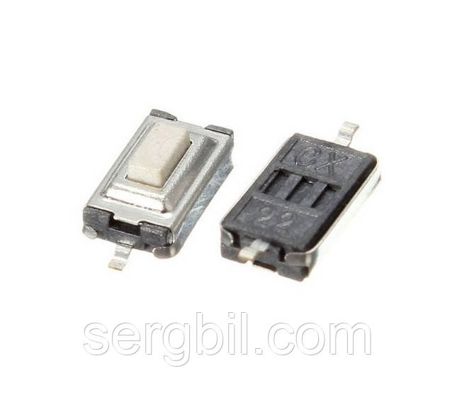 Кнопка без фиксации 3 х 6 х 2.5 мм, для мобильных устройств (телеф, брелки, МР3, МР4...)