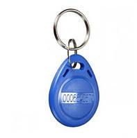 RFID брелок 125 КГц для контроля доступа, не перезаписываемый, чип: EM4100, пластик синий