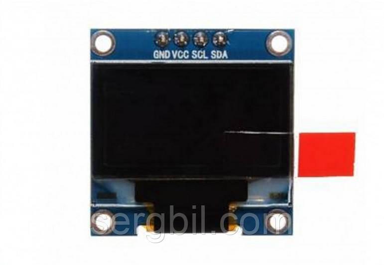 0.96 дюйма OLED LCD дисплей 128 X 64, модуль для Arduino, монохромный  один цвет: белый, интерфейс: I2C, SPI