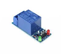 Релейный модуль, 1-канал, питание и управление - 5В, контакты 250В, 10А