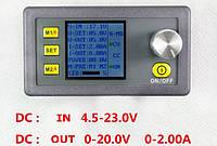 DP20V2A импульсный стабилизатор с LCD дисплеем, программируемый, Uin = 23V, Uout - 0-20V, Iout - 0-2A, фото 1