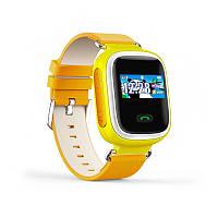 Детские умные часы с GPS трекером Q60 (Цветной дисплей ). Желтый.