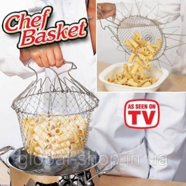 Складная решетка для приготовления Magic Kitchen (Chef Basket (Шеф Баскет)