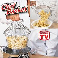 Складная решетка для приготовления Magic Kitchen (Chef Basket (Шеф Баскет), фото 1
