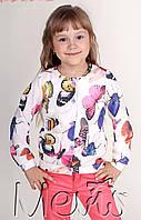 Детская кофта для девочки на пуговицах