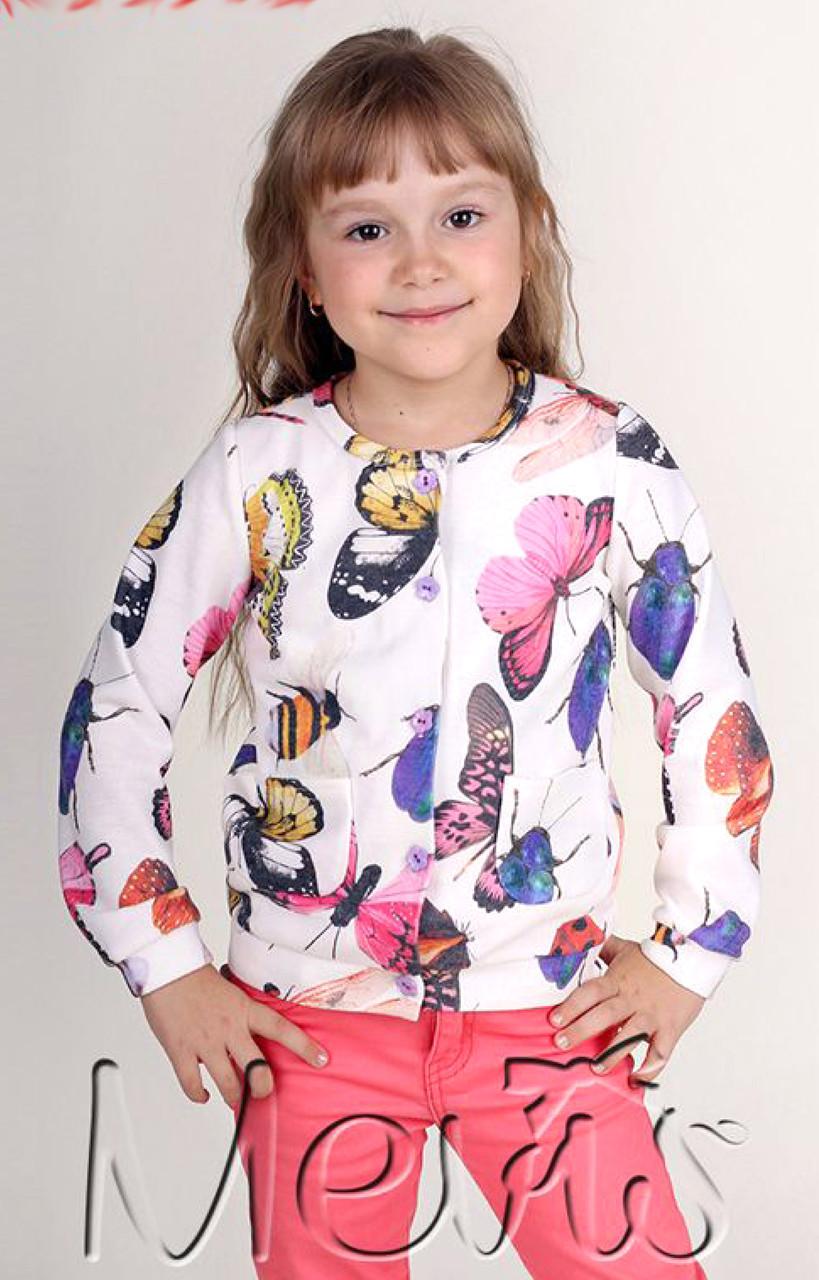 Детская кофта для девочки на пуговицах 104