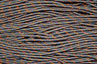 Шнур 5мм с наполнителем (100м) т.серый + оранжевый, фото 1