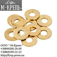 Шайба Ф10 ГОСТ 11371-78, DIN 125 плоская из латуни