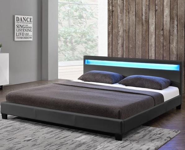 Елегантная кровать PARI 160х200 см. с LED подсветкой