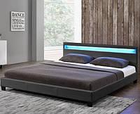 Елегантная кровать PARI 160х200 см. с LED подсветкой, фото 1