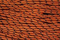 Шнур 5мм с наполнителем (100м) оранжевый+черный, фото 1