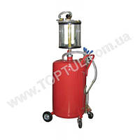 Установка для вакуумной откачки масла с мерной колбой (80л.) B8010KV G.I.KRAFT