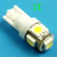 LED лампочка габариты салон повороты T10 АВТО