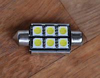Лампа LED  CANBUS 6SMD 5050 фестон 41 мм C5W C10W