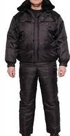 Костюм утепленный черный, костюм зимний для охранника