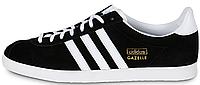 Мужские кроссовки Adidas Gazelle (Адидас Газели) черные