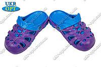 Детские кроксы (Код: Сабо фиолет-синий)