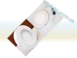 Светодиодный светильник круг 12W Plastic 4000K