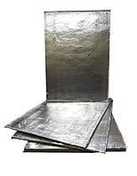 Картон базальтовый фольгований теплоизоляционный 1180х850х5 фольга