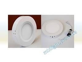 Светодиодный светильник круг 18W Plastic 4000K