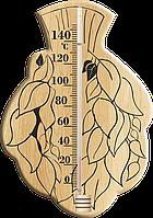 """Термометр для сауны """"Веник"""" из дерева ИСП-6 + ПОДАРОК"""