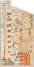 Термометр для сауны и бани с песочными часами Банная станция