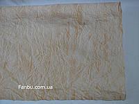 Бежевая жатая бумага с золотым напылением (лист50см* 70 см)