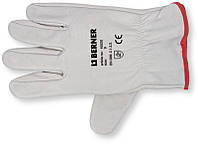 Перчатки кожаные, серые, Категория 2