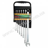 Набор ключей комбинированных супердлинных 7 шт. 10-19 (полиров) GAAM0705 TOPTUL