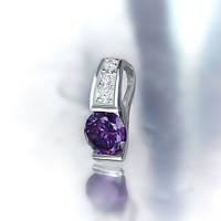 """Серебряный подвес """"Мечта"""" с фиолетовым камнем"""