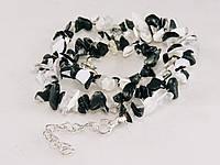 Крошка из агата бело-черная, 46см, фото 1