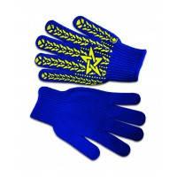 """Перчатки вязанные синие с вкраплением """"Звезда"""" L (16-030) пар."""